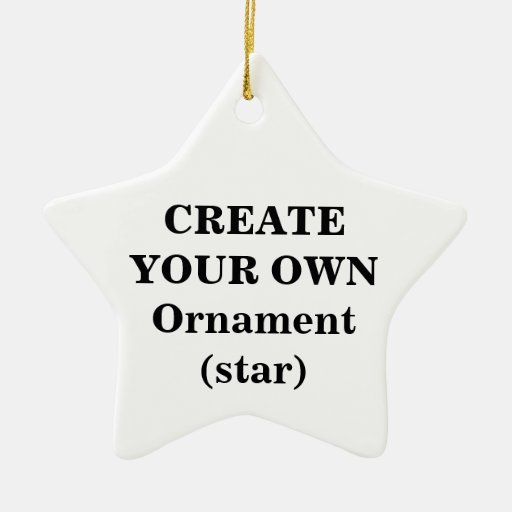 Create Your Own Ornament (star)