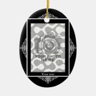Create Your Own Oval Ornament Black Frame