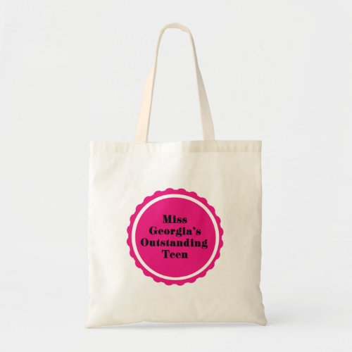 Create your own _ pageant tote bag small