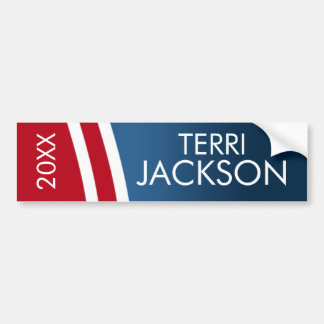 Create Your Own Patriotic Campaign Gear Bumper Sticker