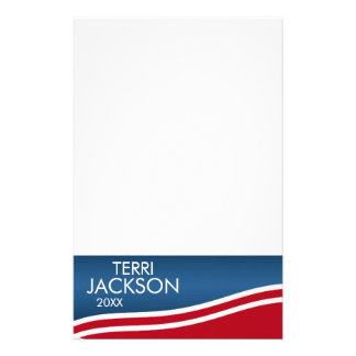 Create Your Own Patriotic Campaign Gear Stationery
