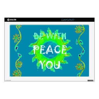 "Create Your Own peace be with you 17"" Laptop Skin"