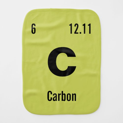 Create your own Periodic Table of the Elements Baby Burp Cloth