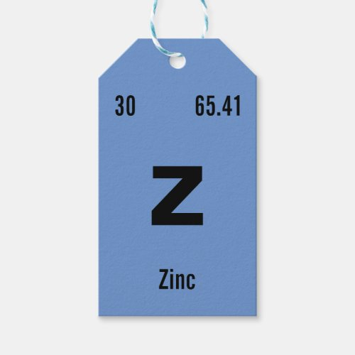 Create your own Periodic Table of the Elements Gift Tags