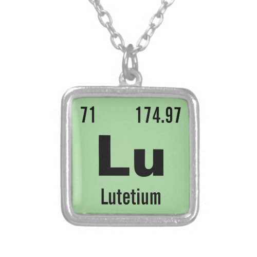 Create your own Periodic Table of the Elements Silver Plated Necklace