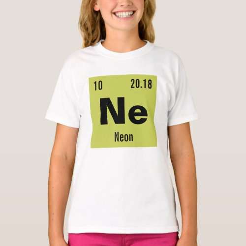 Create your own Periodic Table of the Elements T-Shirt