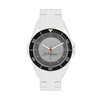 Classic Stainless Steel Watch - features 100% stainless steel construction, adjustable bezel, and water resistance to +300 feet. Customize the watch face with your name, photos, or designs for a stylish memento