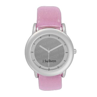Let your glamorous side out with the small-face stainless steel and glitter strap watch from Zazzle and eWatchFactory