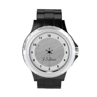 Shine and sparkle with the eWatchFactory Rhinestone Watch! Made with a Rhinestone accented face and black or white enamel alloy bracelet, this watch is the fashionable addition youre wrist has missed.
