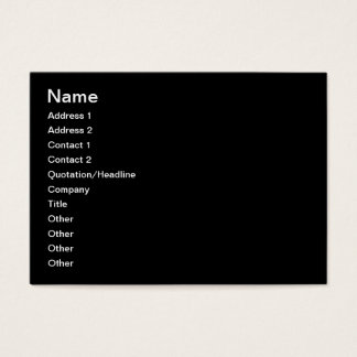 CREATE YOUR OWN - PERSONALIZE THIS BUSINESS CARD