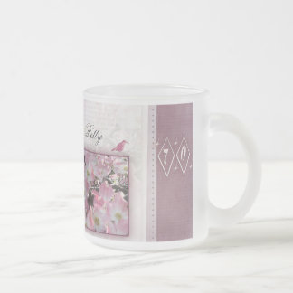 Create your own personalized 70th birthday frosted glass coffee mug
