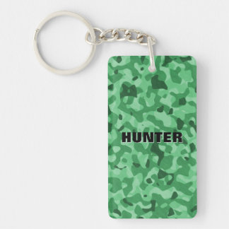 Create Your Own Personalized Green Camo Pattern Keychain
