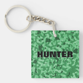 Create Your Own Personalized Green Military Camo Keychain