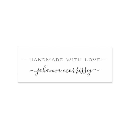 Create Your Own Personalized Handmade With Love Rubber Stamp