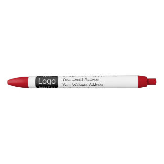 Create Your Own Personalized Logo Business Black Ink Pen