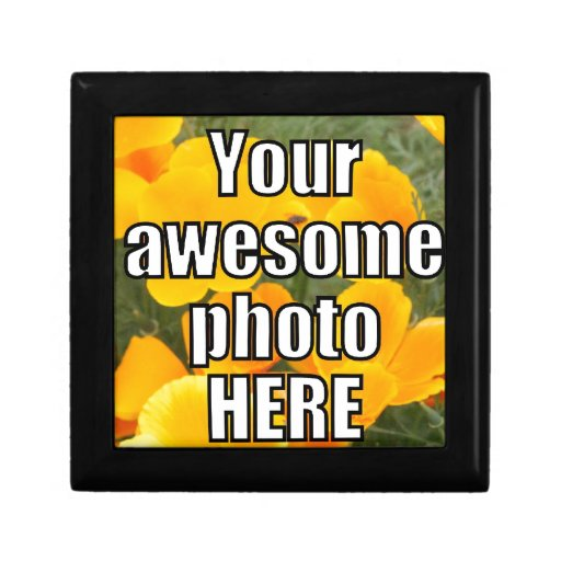 Create Your Own Personalized My Photo Upload Gift Trinket Boxes