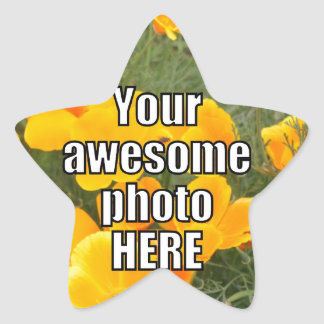 Create Your Own Personalized My Photo Upload Gift Star Sticker