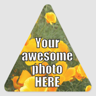 Create Your Own Personalized My Photo Upload Gift Triangle Sticker