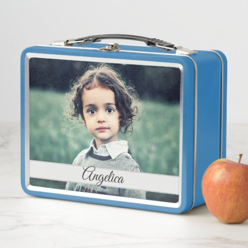 Create your Own Personalized Photo Metal Lunch Box