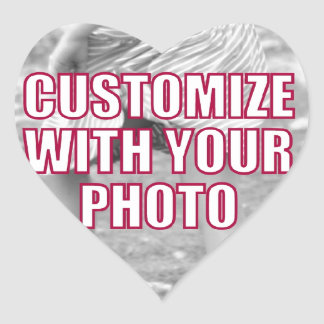 CREATE YOUR OWN Personalized Photo Present Heart Sticker