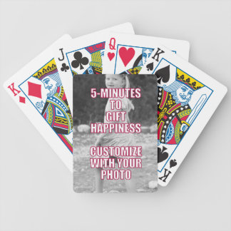 CREATE YOUR OWN Personalized Photo Present Bicycle Poker Cards
