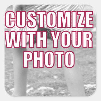CREATE YOUR OWN Personalized Photo Present Square Sticker
