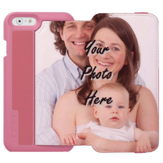Create your own personalized photo template iPhone 6/6s wallet case