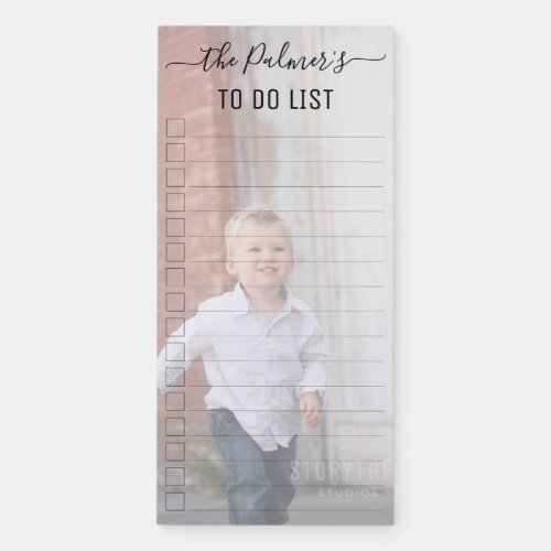 Create your own personalized photo to do list magnetic notepad