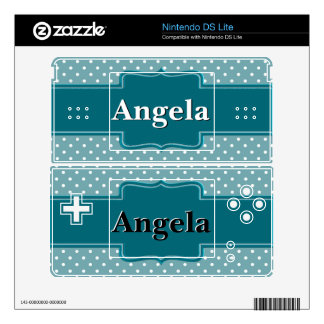 Create Your Own Personalized Teal Jade Polka Dots Nintendo DS Lite Skin