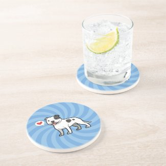 Pit Bull Love Drink Coasters