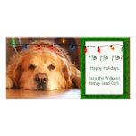 Create your own pet photo holiday card photo cards
