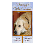 Create your own pet photo holiday card photo greeting card