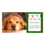Create your own pet photo holiday card custom photo card