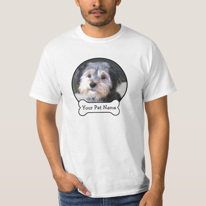 Create your own pet photo memory t shirt zazzle for Make a photo t shirt