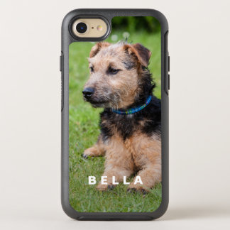 Create Your Own Pet Photo with Name OtterBox Symmetry iPhone 7 Case