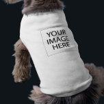 """Create Your Own Pet Shirt<br><div class=""""desc"""">Pimp out your pet by designing some pawsome dog apparel for your little pooch. Create their very own pet tank top by uploading your own text and images. Simply click &quot;Customize&quot; to get started.</div>"""