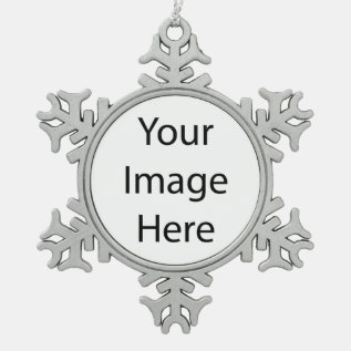 Create Your Own Pewter Snowflake Ornament at Zazzle