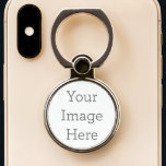 """Create Your Own Phone Ring Stand<br><div class=""""desc"""">Upload your own photo or design to personalize this phone ring holder & stand!</div>"""
