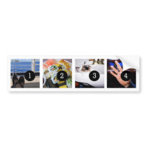 Create Your Own Photo Bumper 4 images! Bumper Sticker