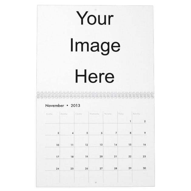 create your own photo calendar template