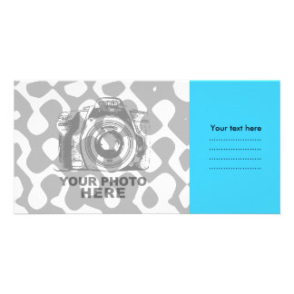 Create Your Own Photo Card Blue