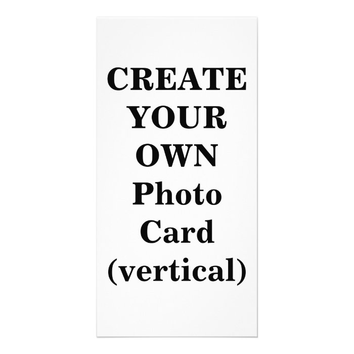 Create Your Own Photo Card (vertical) : Zazzle