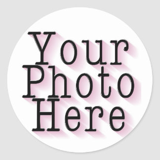CREATE YOUR OWN PHOTO CLASSIC ROUND STICKER
