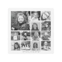Create Your Own Photo Collage - 13 photos Metal Print