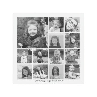 Create Your Own Photo Collage - 13 photos Metal Print