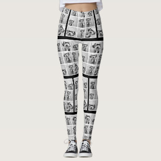 Create Your Own Photo Collage - 9 photos Leggings