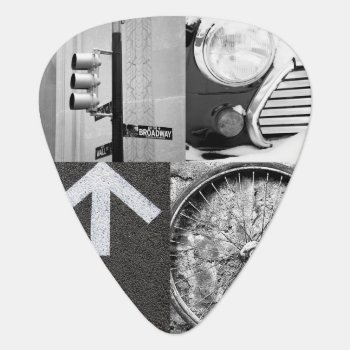 Create-your-own Photo Collage Guitar Pick by StyledbySeb at Zazzle