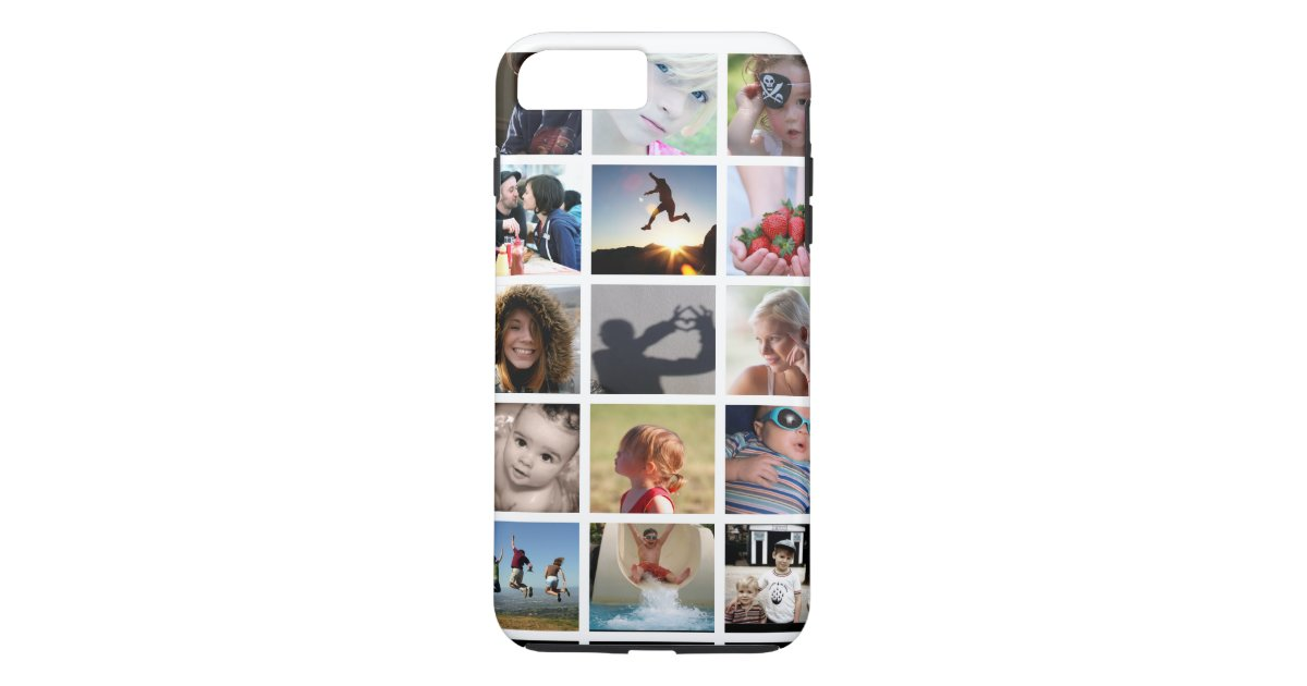 Create your own photo collage iphone 7 plus case zazzle for How to customize your iphone case