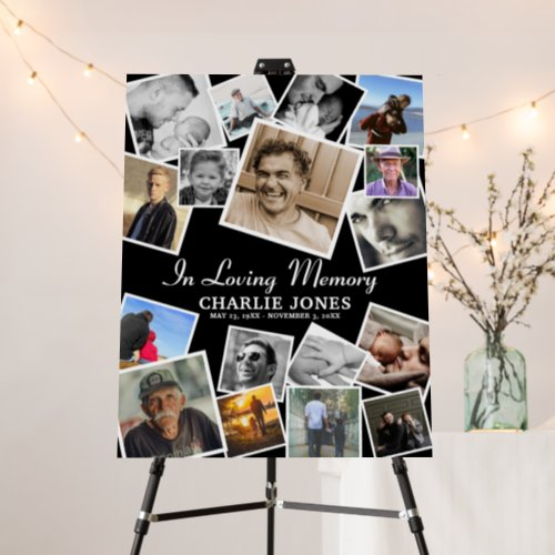 Create Your Own Photo Collage Memorial Funeral  Foam Board