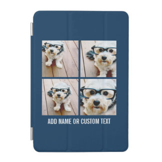 Create Your Own Photo Collage Navy 4 Pictures iPad Mini Cover